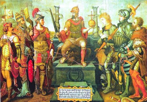 Allegorie du regne de Charles Quint 16th century